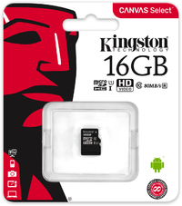 Kingston Technology - Canvas Select - 16GB Class 10 Micro SDHC/SDXC Memory Card (no SD adapter OEM Pack) - Cover