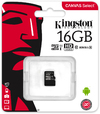 Kingston Technology - Canvas Select - 16GB Class 10 Micro SDHC/SDXC Memory Card (no SD adapter OEM Pack)