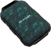 RAVPower - 10050mAh 2x USB IP66 Waterproof Power Bank - Camouflage