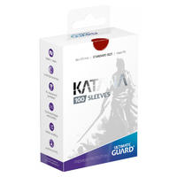 Ultimate Guard - Katana Sleeves Standard Size Card Sleeves - Red (100 Sleeves)
