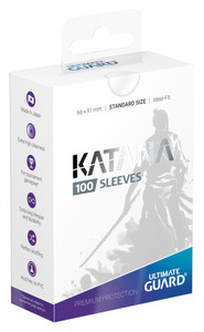 Ultimate Guard - Katana Sleeves Standard Size Card Sleeves - Transparent (100 Sleeves) - Cover