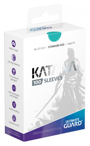 Ultimate Guard - Katana Sleeves Standard Size Card Sleeves - Turquoise (100 Sleeves) - Cover