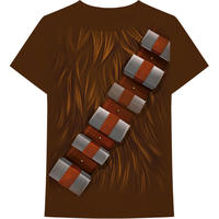 Star Wars - Chewbacca Chest Men's Brown T-Shirt (X-Large)