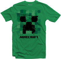Minecraft - Splatter Creeper - Youth T-Shirt - Green (15-16 Years) - Cover