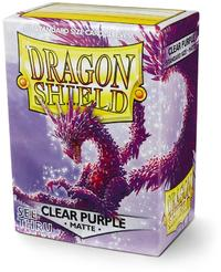 Dragon Shield - Standard Sleeves - Matte Clear Purple 'Racan' (100 Sleeves) - Cover