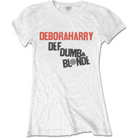 Debbie Harry Def, Dumb & Blonde Women's White T-Shirt (Large) - Cover