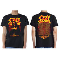 Ozzy Osbourne No More Tours Vol.2 Men's Black T-Shirt (Small) - Cover
