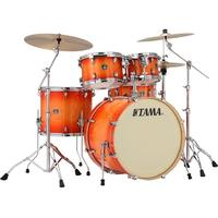 Tama CL52KRS-TLB Superstar Classic 5pc Shells Only Acoustic Drum - Tangerine Lacquer Burst (22 10 12 16 14 Inch)
