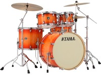 Tama CL52KRS-TLB Superstar Classic 5pc Shells Only Acoustic Drum - Tangerine Lacquer Burst (22 10 12 16 14 Inch) - Cover
