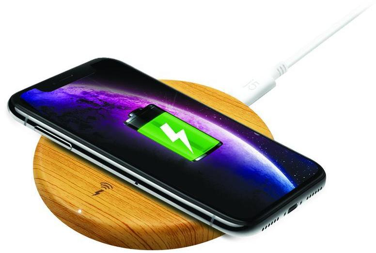 J5create - JUPW1101W 1-Coil 10W Wireless Fast Charging Stand with Wood  Finish