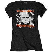 Debbie Harry French Kissin' Women's Black T-Shirt (Large) - Cover