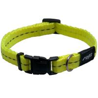 Rogz - Utility X-Small 11mm Firefly Dog Collar (Dayglo Yellow Reflective)