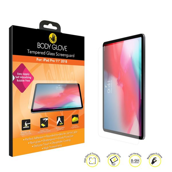 buy popular 6c087 d07b9 Body Glove Tempered Glass Screen Protector for Apple iPad Pro 11 Inch 2018  - Clear