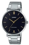 Casio Enticer Analogue Mens Wrist Watch - Silver and Black Face