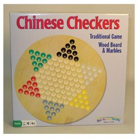 Chinese Checkers (Wood) with Marbles (Board Game) - Cover