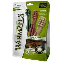 Whimzees - Toothbrush Dental Treats - Extra-Small (48pce Value Bag)