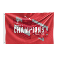 Liverpool - Champions of Europe 2019 Flag - Cover