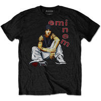 Eminem Letters Men's Black T-Shirt (XX-Large)