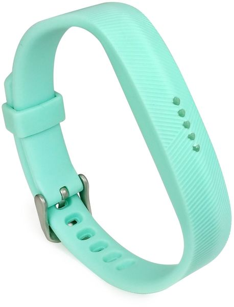 Tuff-Luv Replacement Adjustable Silicone Strap Bracelet Wrist Band for  FitBit Flex 2 - Teal