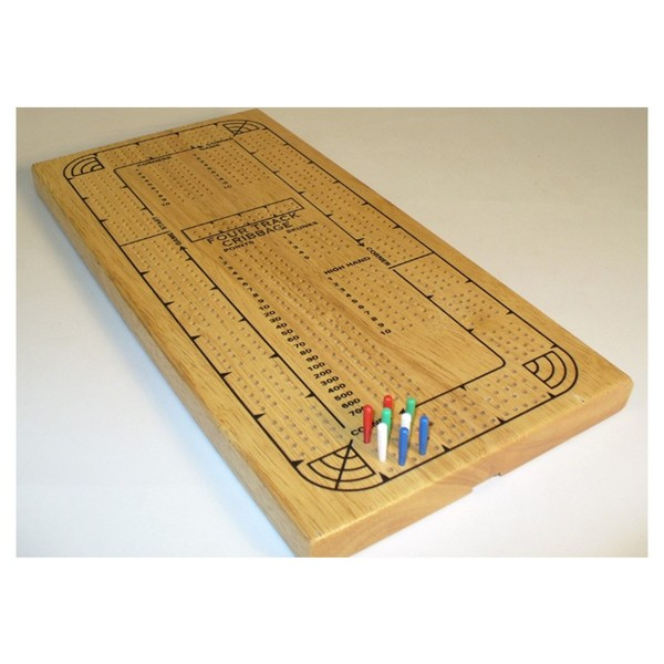 Cribbage: 4-Player Oak Plastic Pegs (Card Game)