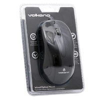 Volkano Earth Series Wired Optical Mouse - Black - Cover