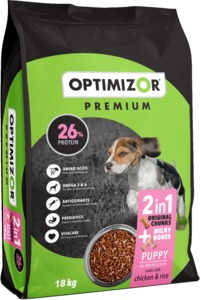 Optimizor - Premium Dry Puppy Food - Milky Bones + Chicken & Rice (18kg) - Cover