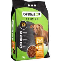 Optimizor - Premium 2in1 Dry Dog Food - Moist & Meaty Chicken & Rice (7kg)
