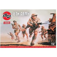 Airfix - 1/76 - Vintage Classics: WWII British 8th Army (Plastic Model Kit)