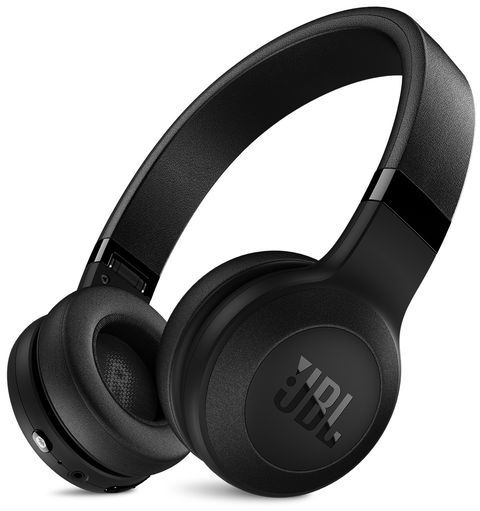 JBL C45BT Wireless On-Ear Bluetooth Headphones (Black)