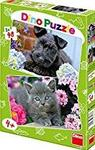Dinotoys - Dog and Cat Motif Puzzle (48 Pieces)