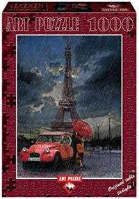 Art Puzzle - Eiffel and Rain and Love Puzzle (1000 Pieces)