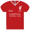 Liverpool - Shirt Shaped Metal Sign