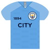 Manchester City - Shirt Shaped Metal Sign