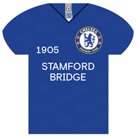 Chelsea - Shirt Shaped Metal Sign - Cover