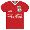 Liverpool - YNWA Shirt Shaped Metal Sign