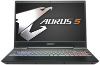 Aorus 5 i7-9750H 8GB RAM 1TB HDD 256GB SSD nVidia GeForce GTX 1650 4GB LG 144Hz 15.6 Inch FHD Gaming Notebook - Free DOS (No Windows Installed) - Cover