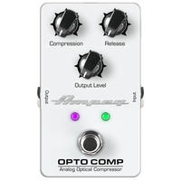 Ampeg Opto Comp Analog Optical Compressor Bass Guitar Effects Pedal