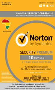 Norton Security Premium 10 Devices 1 Year - Cover