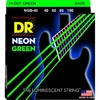 DR NGB-40 Neon Green 40-100 Light Nickel Plated Steel Green Coated Bass Guitar Strings