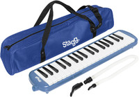 Stagg MELOSTA37 BL 37-Key Melodica with Gig Bag (Blue) - Cover