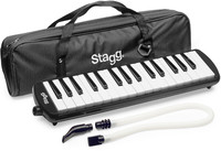 Stagg MELOSTA32 BK 32-Key Melodica with Gig Bag (Black) - Cover