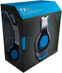 Gioteck TX-30 Multi Platform Stereo Game & Go Headset - Blue (PS4/Mobile)