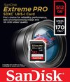 SanDisk - Extreme PRO 512 GB SDXC Memory Card, Up to 170 MB/s, Class 10, U3, V30