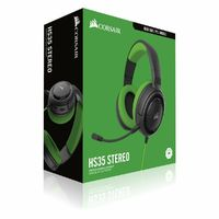 Corsair - HS35 Stereo Gaming Headset - Green (PC/Gaming) - Cover