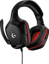 Logitech - G332 Gaming Headset - Black/Red (PC/Gaming/Mobile)