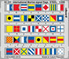 Eduard - Photoetch: 1/200 - International Marine Signal Flags STEEL (Plastic Model Kit Add-On)