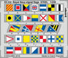 Eduard - Photoetch: 1/200 - Royal Navy Signal Flags STEEL (Plastic Model Kit Add-On)