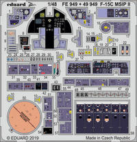 Eduard - Photoetch (Zoom): 1/48 - F-15C MSIP II (Great Wall Hobby) (Plastic Model Kit Add-On) - Cover