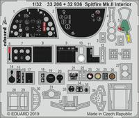 Eduard - Photoetch: 1/32 - Spitfire Mk. II Interior  (Revell) (Plastic Model Kit Add-On) - Cover