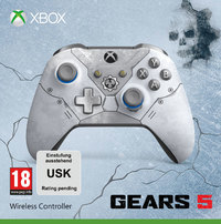 Microsoft - Xbox One Wireless Controller GEARS 5 - Kait Diaz Limited Edition - Grey/Blue (Xbox One/PC)